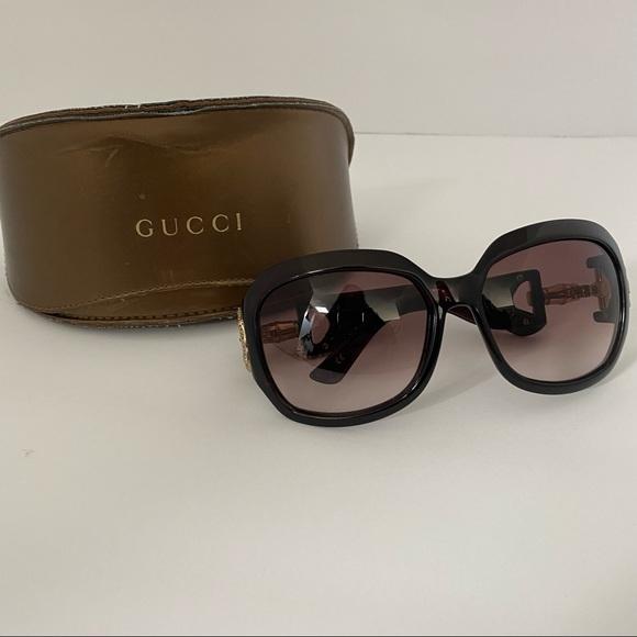 Gucci Brown Horsebit Crystal GG3017 Sunglasses